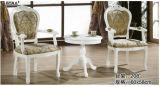 Hölzerner Tisch mit Furnier-Blatt, runder Tisch, Kaffeetisch, seitlicher Tisch (208)