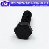 Болт с шестигранной головкой стали углерода DIN933 DIN931 черный