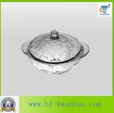 Kitchenware ajustado Kb-Hn0375 da bacia de vidro da salada do produto comestível do projeto
