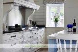 水晶上(WH-D272)が付いている白い純木浜様式の食器棚
