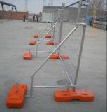 Clôture provisoire amovible lourde avec le support de support/panneau portatif de frontière de sécurité