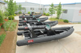 Fiberglas Boat, Outboard Motor Boat, Luxury Rib Boat Hypalon Speed Boat /Yacht Rib730b Made in China mit CER CERT