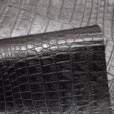 暗い色のワニパターン袋のハンドバッグのための人工的なPUの革
