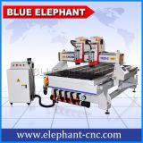 Router de madeira do CNC da máquina de estaca do CNC das cabeças Ele1325 dois para a mobília de madeira