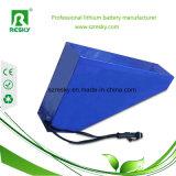 Pack batterie de lithium de la triangle 48V 20ah pour la moto 1500W électrique avec le chargeur