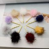9 Haarspelden van de Haarspeldjes van de Bal Poms van kleuren POM de Goud Geplateerde