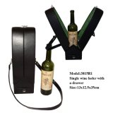1 fles Leather Wine Carrier met een Drawer (3815R1)