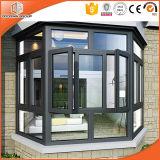 Ventana de aluminio para Aruba, ventana del marco de la rotura Non-Thermal de la buena calidad del fabricante chino, aluminio hermoso con bisagras/ventana del marco