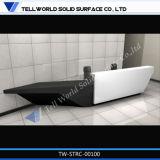 Fester Oberflächenacrylsauerempfang-vorderer Schreibtisch