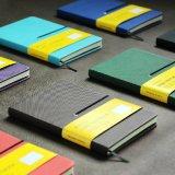 Cahier ordonné large/livre en cuir de tourillon/cahier de papier pointillé
