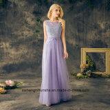 Langes Mädchen der Ehre kleidet Tulle-Spitze-Brautjunfer-Kleider