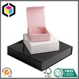 Caixa de empacotamento de papel da jóia do presente da espuma da tela do rebanho
