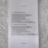Einfacher Inhalt gedruckter Kennsatz mit Strichkode für Kleidung