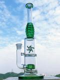 Pipe de fumage droite de Perc de Birdcage de roue de vent de forme de panne