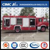 Coche de bomberos del chasis 4*2 de Dongfeng con 3 clases que dispensan los materiales (agua, espuma, polvo)