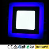 Свет панели потолка СИД RoHS 6W 12W 18W Ce двойным утопленный цветом