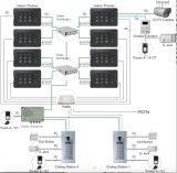 PABXシステム(A4-E81CT)のための4台のワイヤーカラービデオのドアの電話