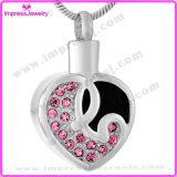 Coração com os pendentes da jóia do Keepsake do aço inoxidável dos cristais para cinzas