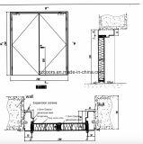 Porta de incêndio de aço de vidro da porta de incêndio da porta à prova de fogo com vidro