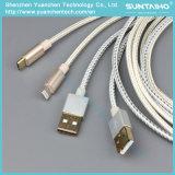 cavo di carico veloce del USB di 1m/2m/3m per i telefoni Android/iPhone di Samsung 6 7