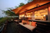 Las tiendas al aire libre personalizadas más grandes duraderas de Sexangle para la venta / la tienda de lujo del safari para la venta