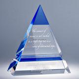 Kristallglas-Daumen sprechen oben Trophäe für Andenken zu