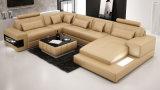 O sofá europeu o mais novo do couro do canto da mobília da sala de visitas