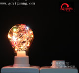 Luz de bulbo colorida especial del material A19 del alambre de cobre de los bulbos de la estrella del RGB LED