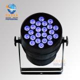 Luz de la IGUALDAD del alto brillo 24LEDs*15W 5in1 Rgbaw DMX LED de Rasha con Powercon para el sistema de sonido de Evernt de la luz de la etapa