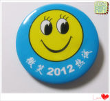 Distintivo su ordinazione del tasto di marchio di sorriso di stampa per i regali di promozione