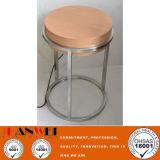 Mesa de café Madeira maciça / estrutura de aço Mobília de madeira