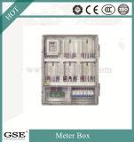 Caja de contador de energía monofásica prepagada / caja de contador eléctrico con material de PC