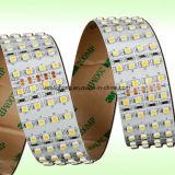 4 filas 24volt SMD3528 6000k refrescan la luz de tira flexible blanca del LED