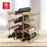 4層12のびんの純木のワイン・ボトルの陳列だな
