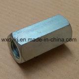 Noix de couplage Hex de l'acier du carbone DIN 6334 galvanisés Rod