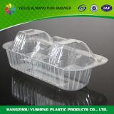 Устранимая пластичная коробка торта с прозрачной прикрепленной на петлях крышкой
