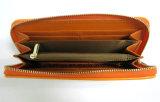 Бумажник кожи PU застежки -молнии конструкции проверки Tartan способа