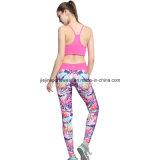 Personalizado impresso 8515 Spandex Gym Yoga Bra compressão Running calças