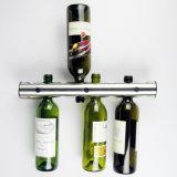 新しいデザイン新型のアルミニウム壁に取り付けられたワイン・ボトルの陳列だな