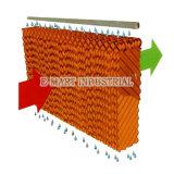 Almofada molhada evaporativa amarela para o sistema de Ventilatiion