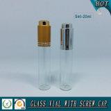 5ml-20ml ontruim de Kosmetische Tubulaire Flessen van het Glas met Verschillend Deksel