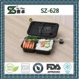 까만 고품질 형식 Microwavable 경첩을 단 뚜껑을%s 가진 처분할 수 있는 음식 콘테이너