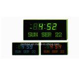 Horloge de calendrier d'étalage de jour et de datte de semaine de chiffre de couleur de DEL