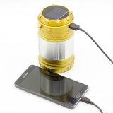 Lumière solaire portative colorée de lanterne du chargeur DEL d'USB pour l'usage extérieur