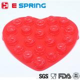 DIY faisant le moulage de lucette de silicones de forme de coeur de 20 cavités