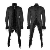 Y-759 Gothic Decadent Noble Printing Hommes Swallowtail Long Coat