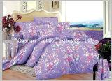 多または綿女王によって合われたベッドカバーのパッチワークの寝具セットを印刷した