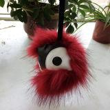 方法毛皮のKeychainモンスターの柔らかい球のKeychainのディスコの球Keychain