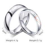 Anel de casamento cirúrgico feito sob encomenda da forma do amor do aço inoxidável para pares