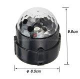 indicatori luminosi magici giranti magici di cristallo della sfera di telecomando LED della sfera di 3W RGB per la discoteca DJ del Pub del randello del partito di natale di KTV